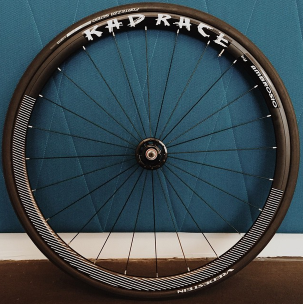 The RAD RACE x AMBROSIO Fixed Gear wheelset.