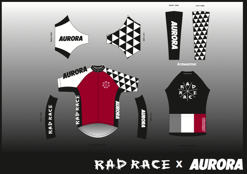 The RAD RACE x AURORA FAREWELL CYCLING JERSEY