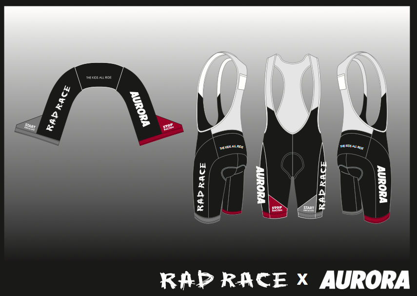 The RAD RACE x AURORA Farewell Cycling Bib shorts