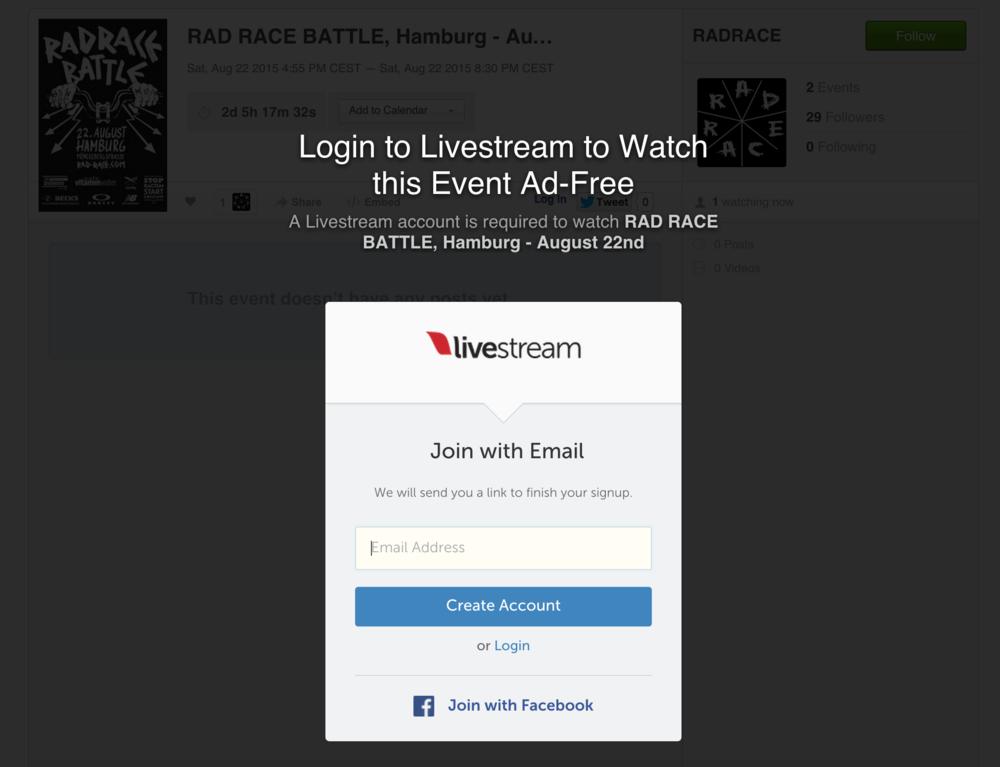 Just click this picture to access the live stream. Einfach aufs Bild klicken, um zum Live Stream zu kommen!