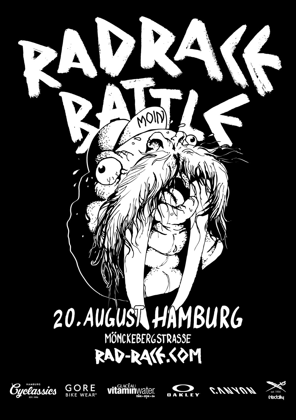 The official poster for the RAD RACE BATTLE Hamburg, made by Menso von Ehrenstein.