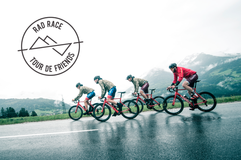 "The RAD RACE ""TOUR DE FRIENDS"" WILL BE AN EPIC STAGE RACE FROM MUNICH - VENICE. SHOT BY Björn reschabek."