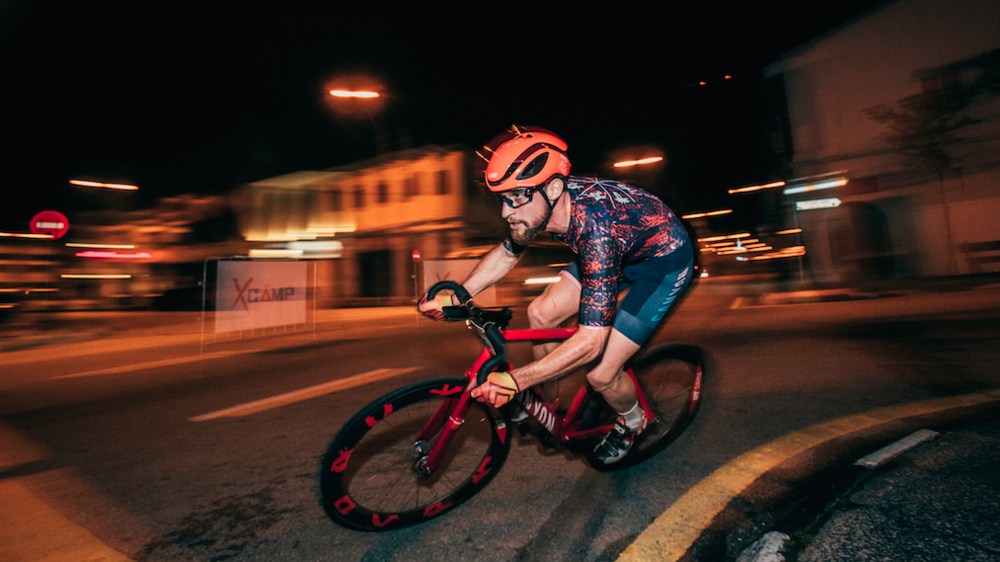RAD PACK team rider jo fischer kickin his canyon vrad at holy crit in malaysia