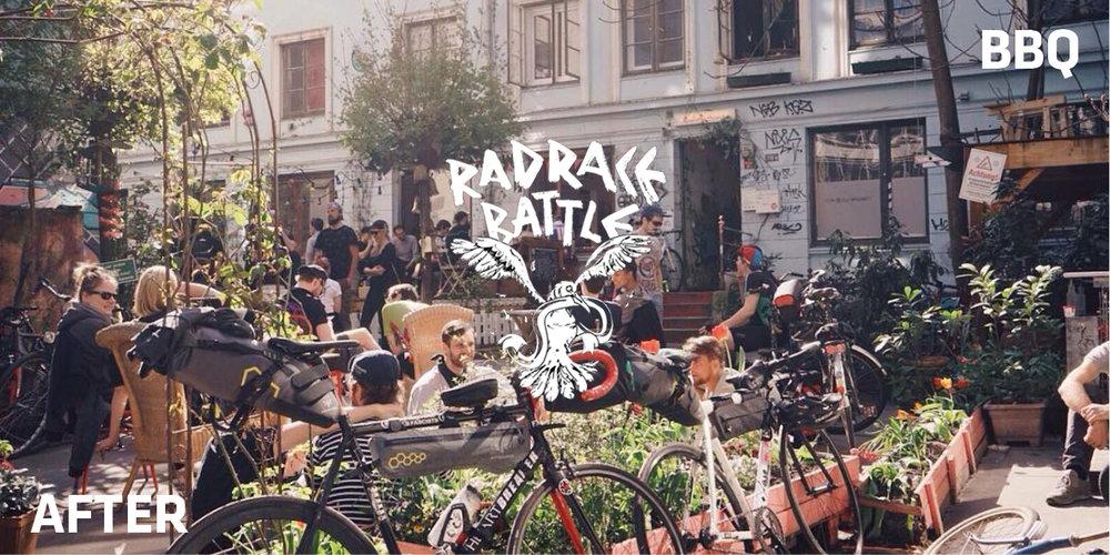 RAD RACE BATTLE - AFter RACE BBQ AT RAUM für fahrradkultur (Gängeviertel hamburg)