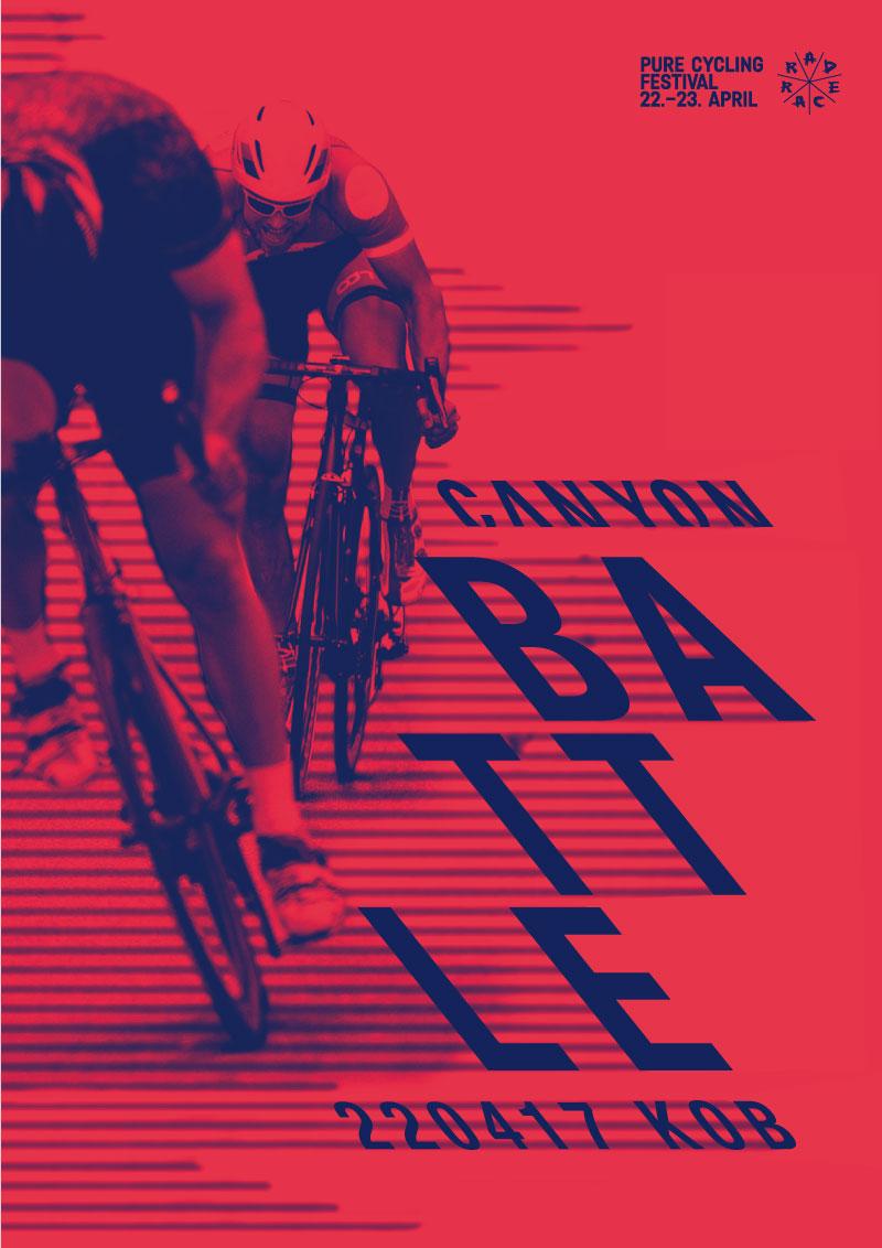 RAD RACE Canyon Battle poster