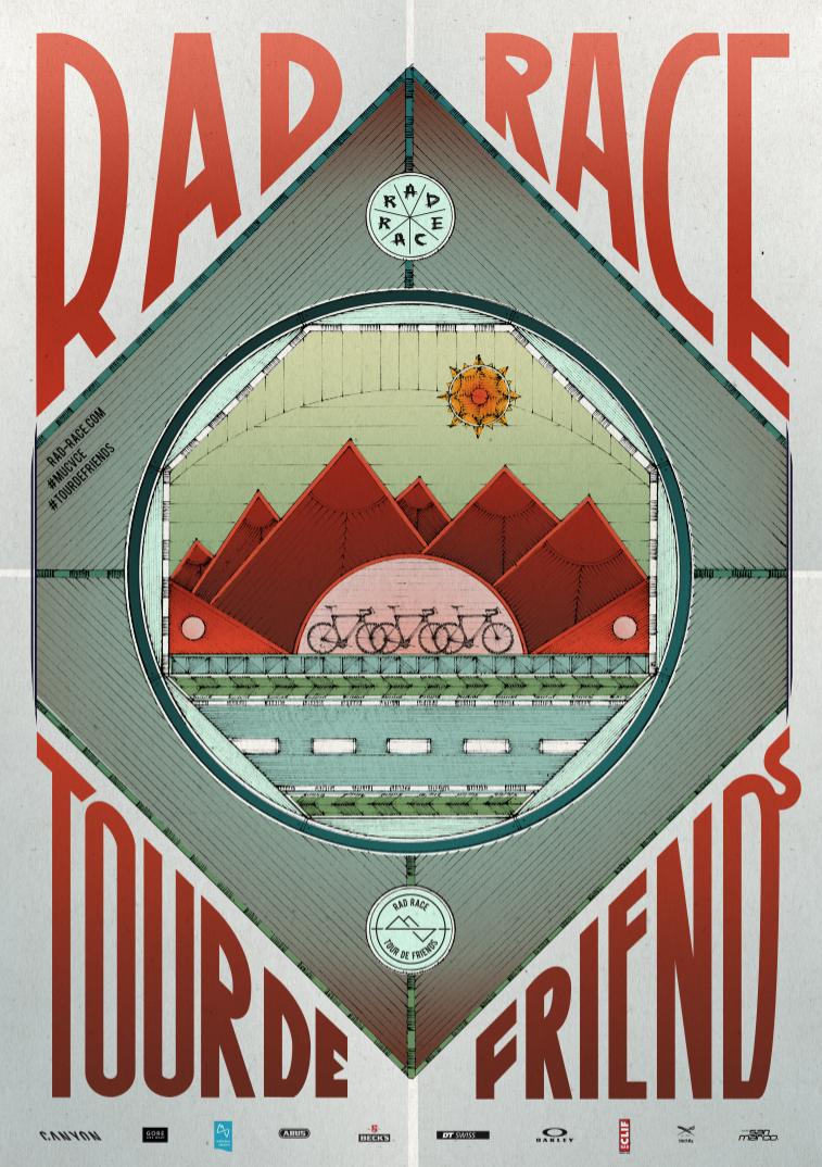 RAD RACE Tour de Friends 2017 Poster