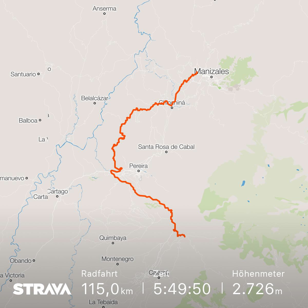 The official Strava Track of Stage 3.
