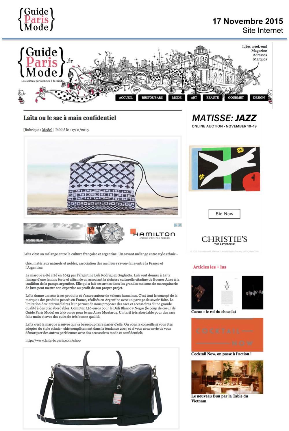 Guide Paris Mode (cliquer pour lire l'article)