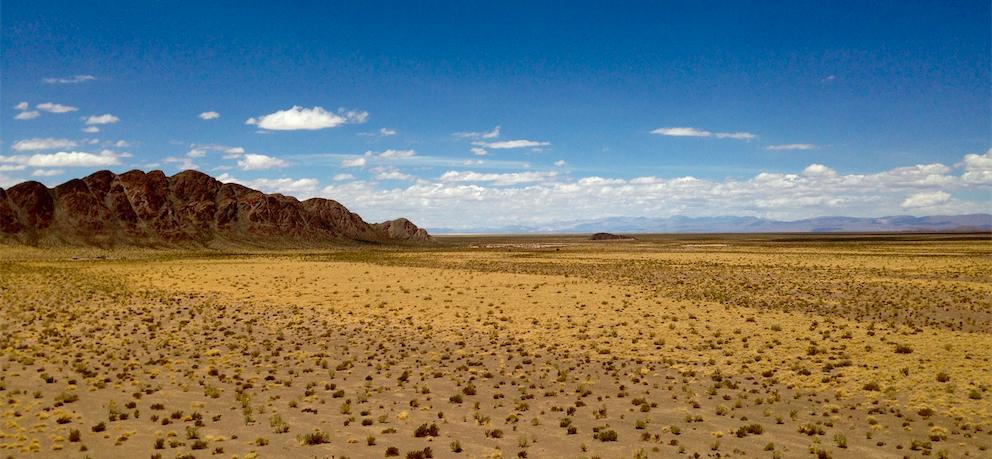 La vue de l'hôtel de las Nubes, en gros...