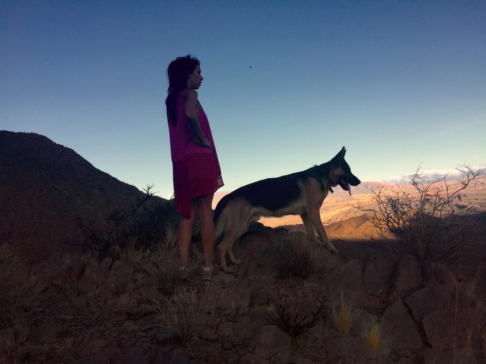 Au sommet, avec Arthuro, le nouvel ami de Luli