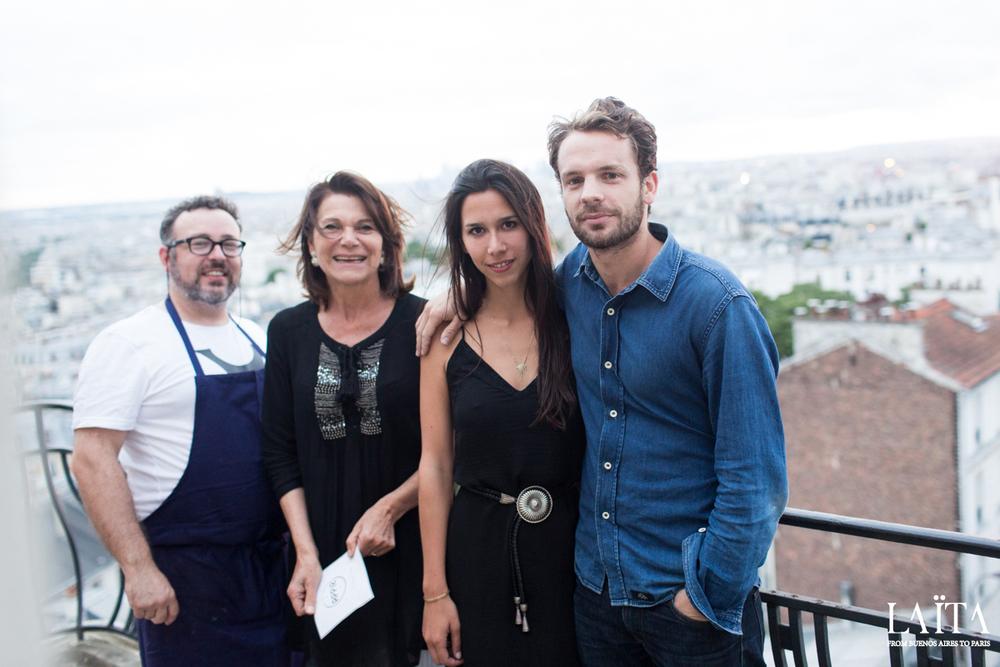 Sylvain, Clémentine, Luli et Arnaud lors de la Soirée des Ateliers de Juillet 2015 - @Jacob Khrist