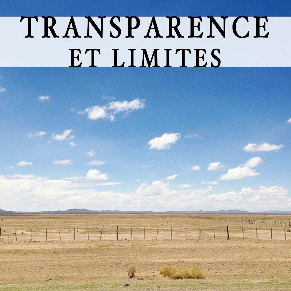 Transparence et limites