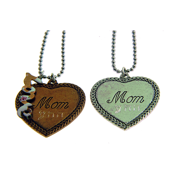 "Vintage charm necklaces, ""Unconditional Love"""