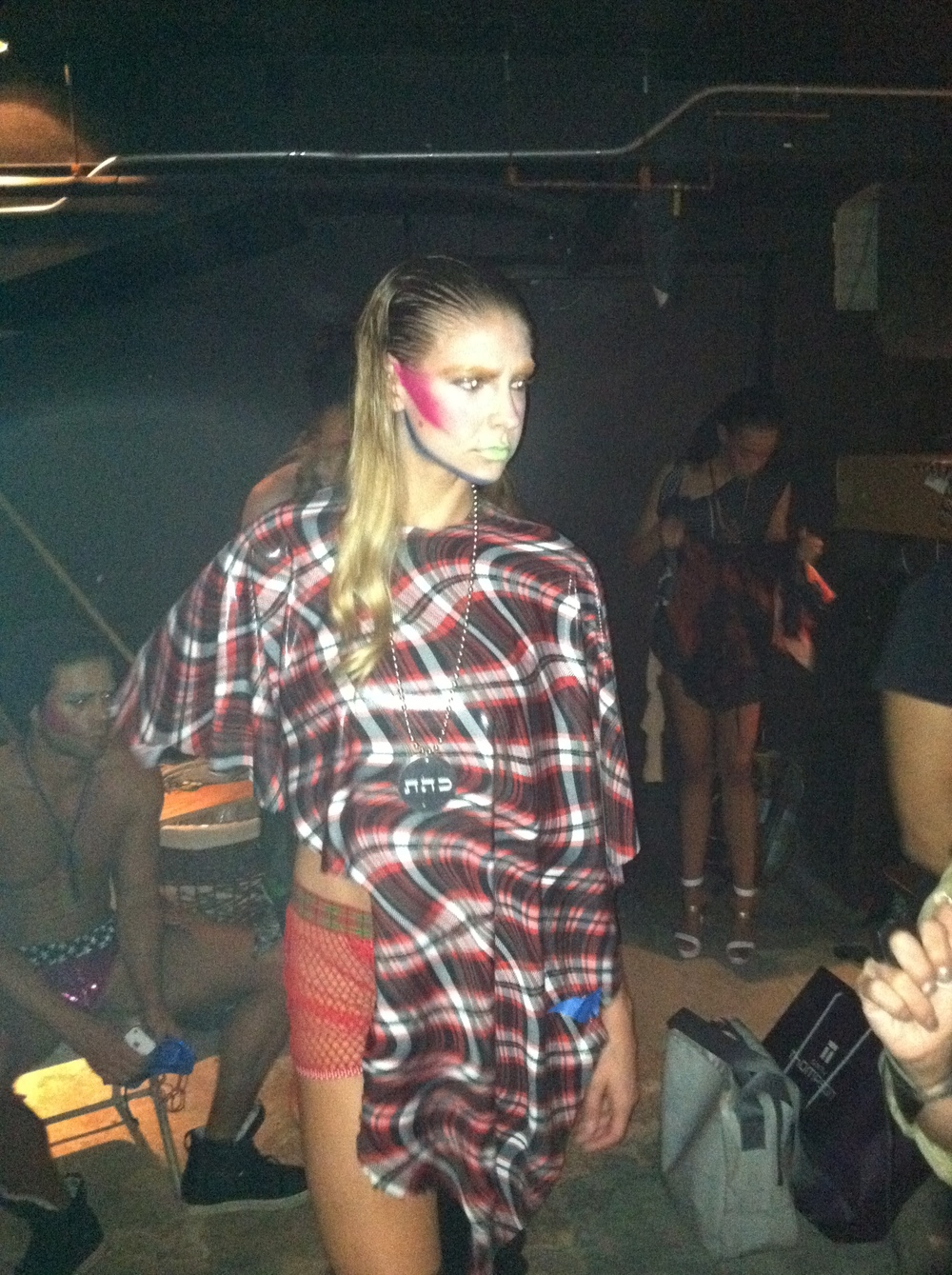 September 16, 2011: Fashion show at One Oak, aluminum medallion necklace Dissolve Negativiy