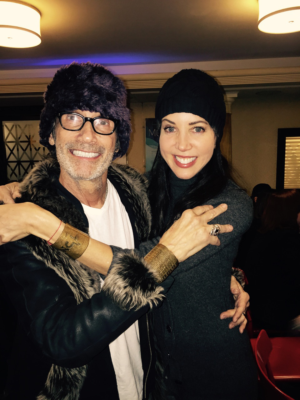 Music Producer Jonny Podell in Rachel Brown Jewelry Signature Cuff