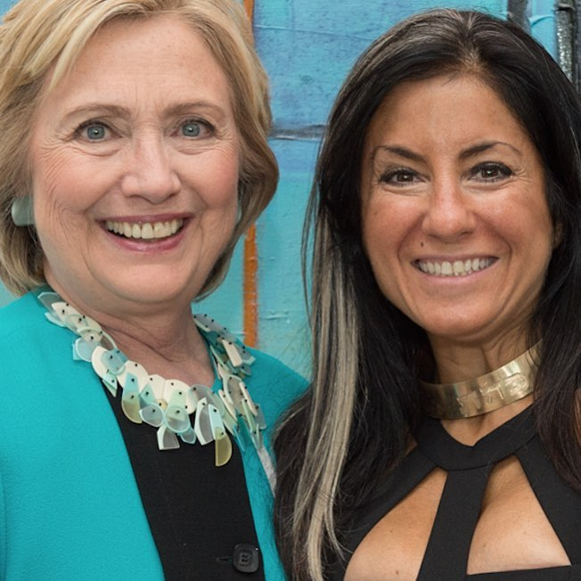 FEBRUARY 3 2016: RACHEL BROWN CHOCKER ALONGSIDE HILARY CLINTON AT FUNDRAISER