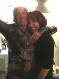 April 2016: Rodin Zander, lead singer of Cheap Trick, wearing Rachel's crystal necklace in celebration of being inducted into The Rock & Roll Hall of Fame