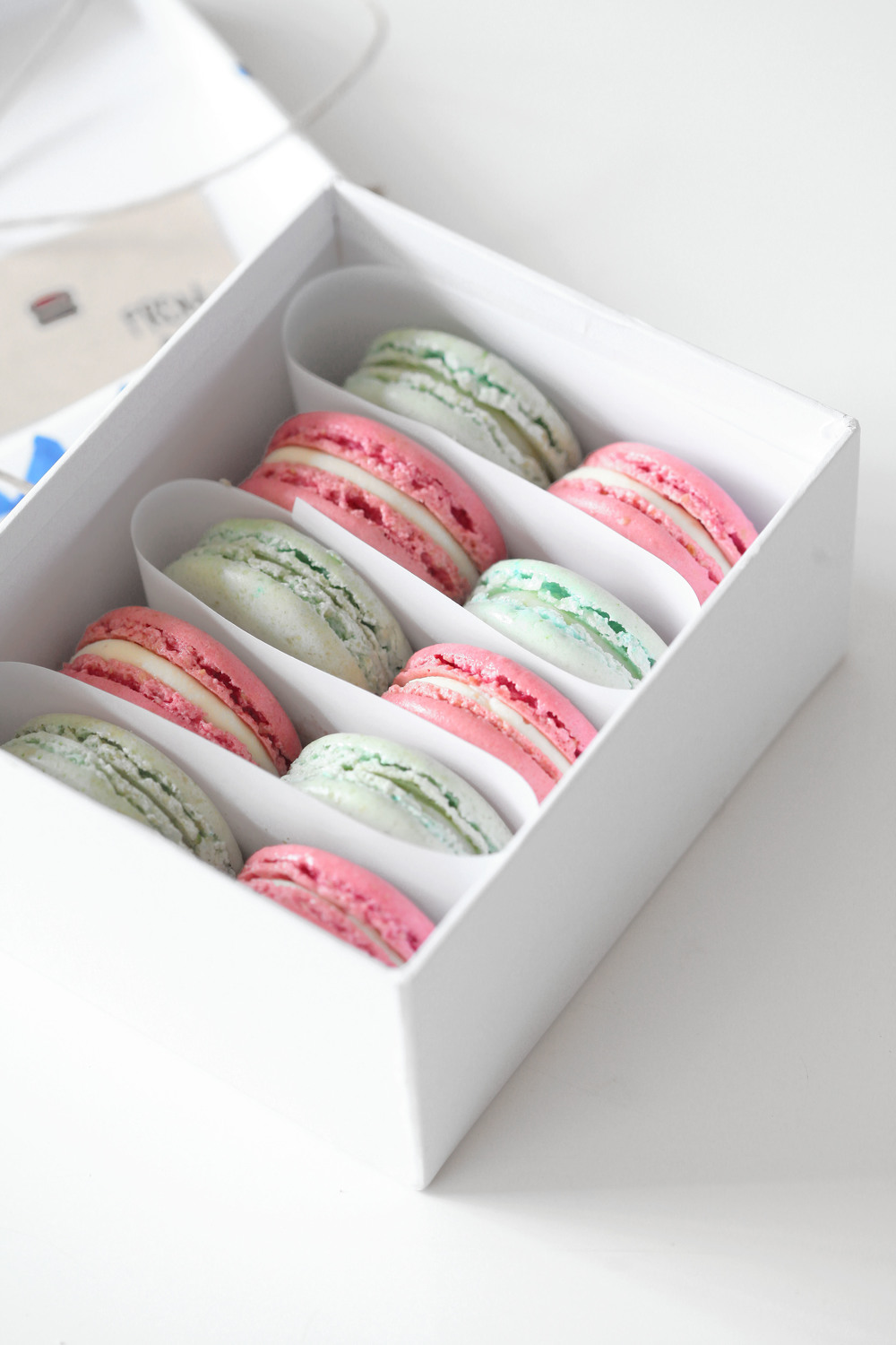 DIY packaging + Champagne Strawberry-Rhubarb Macarons | Natalie Eng ...