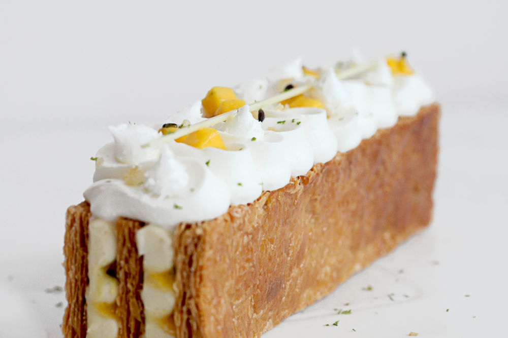 Passionfruit, Coconut and Ginger Mille Feuille