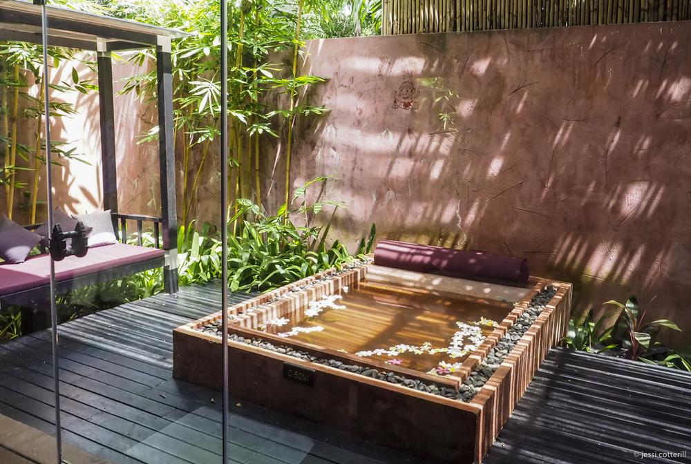 Spa outdoor bath.