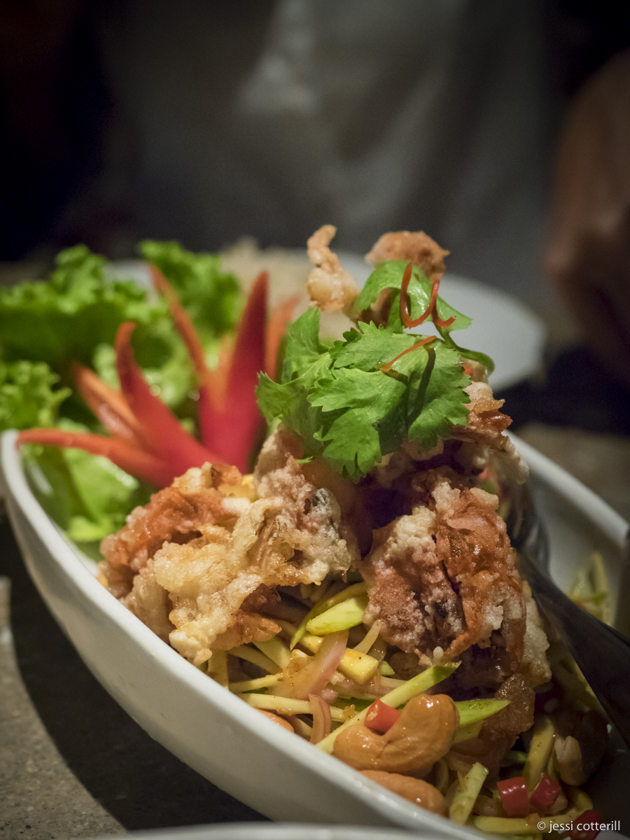 Soft shell crab spicy salad
