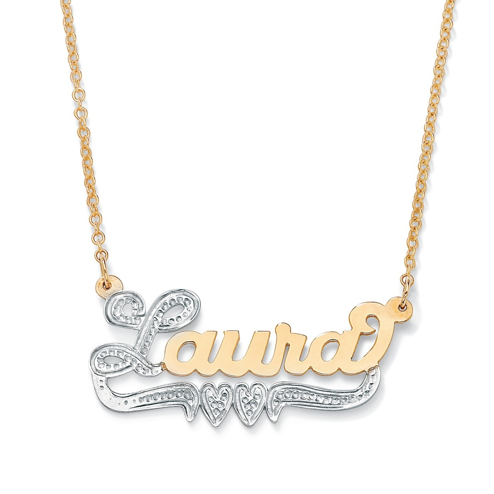 gold sterling walmart personalized silver chains ip com name girls necklace over