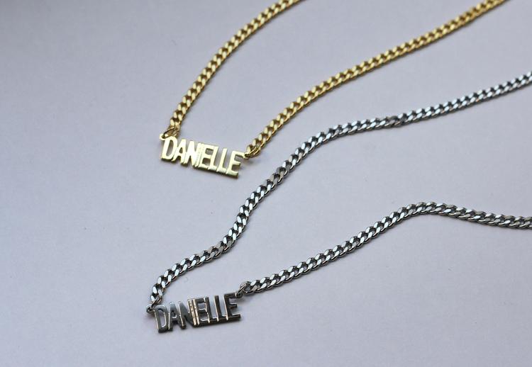 897ca9afac231 THE MINI CHOKER NAMEPLATE NECKLACE — The M Jewelers