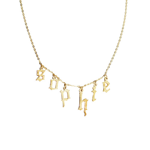 The Old English Pendant in Metallic Gold The M Jewelers NY 5a66RW6