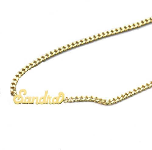 5733637d80584e THE SCRIPT MINI CHOKER NAMEPLATE — The M Jewelers