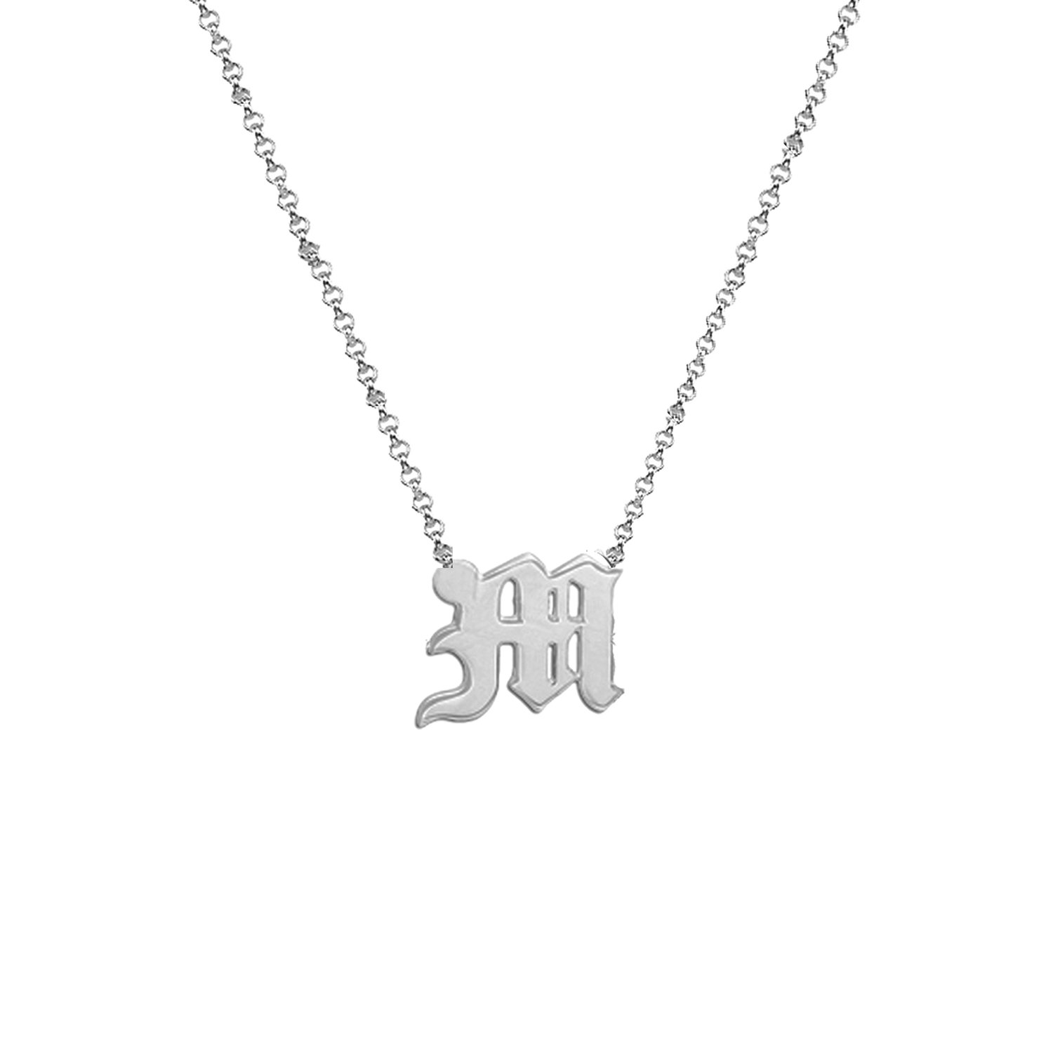 necklace chains hand name monogram girls initial personalised pin