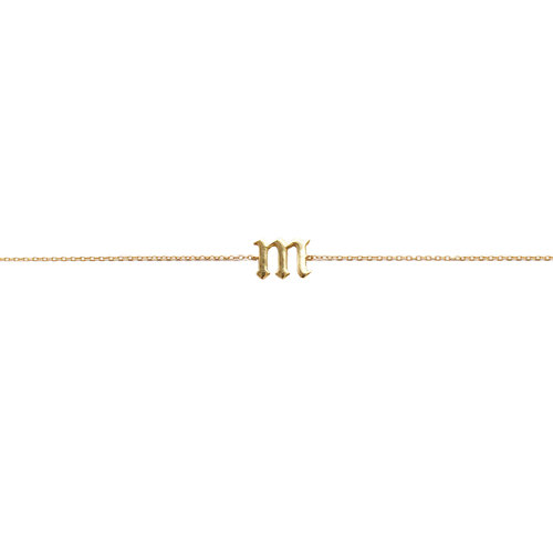 7bdc87262d0bc4 THE SINGLE LETTER CHOKER LOWERCASE — The M Jewelers
