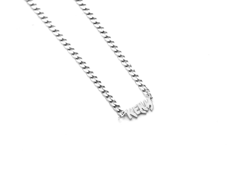 9ecaaaa5cd854 THE CAMDEN MINI CHOKER NAMEPLATE — The M Jewelers