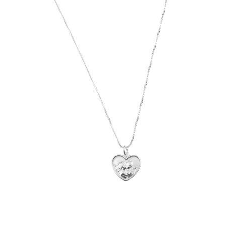 The tiny angel heart pendant necklace the m jewelers the tiny angel heart pendant necklace mozeypictures Images