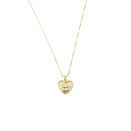 The tiny angel heart pendant necklace the m jewelers the tiny angel heart pendant necklace aloadofball Choice Image