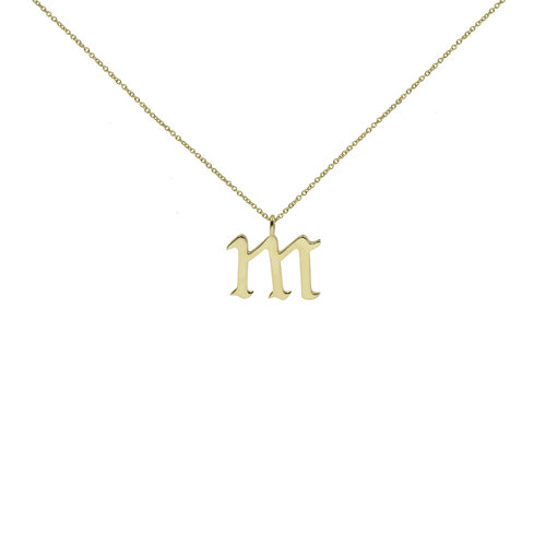 The old english pendant necklace lowercase the m jewelers m pendantg aloadofball Image collections