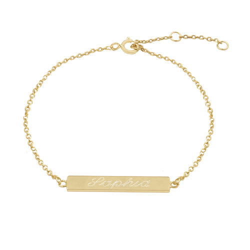 bracelet name hand item stamped initial bar style word pulseira dainty summer charm thin plate gold custom