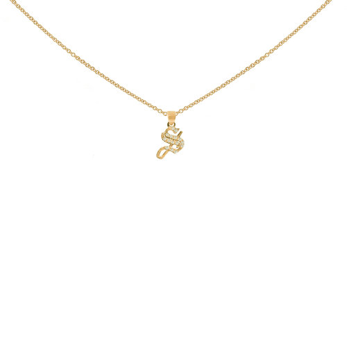 The small gothic diamond initial necklace the m jewelers the small gothic diamond initial necklace aloadofball Images