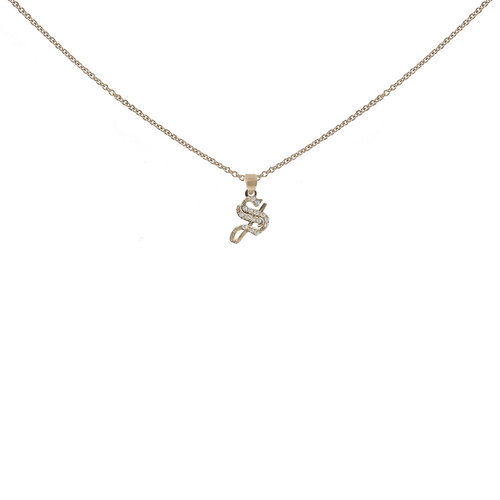 The small diamond gothic initial necklace the m jewelers the small diamond gothic initial necklace aloadofball Choice Image