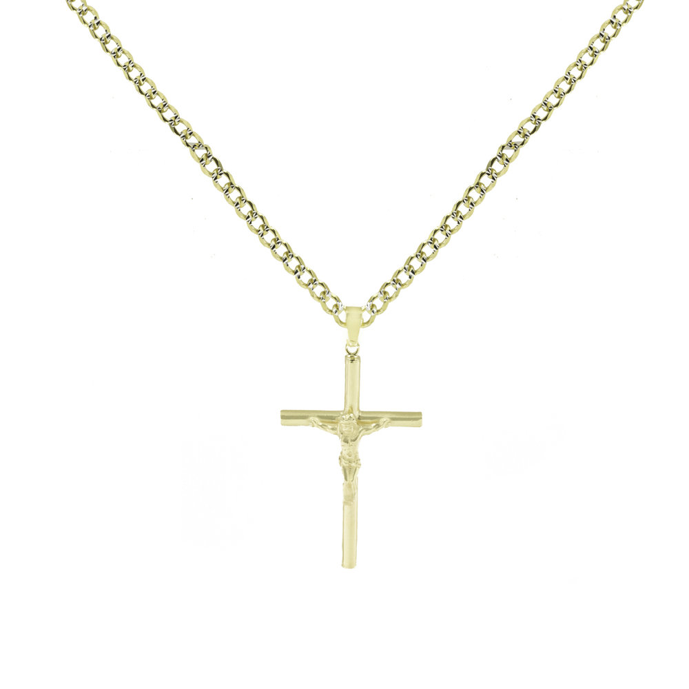 and crucifix tone the two pendant wcp box gs s warrior velvet with store stainless steel gold silver gift plated sword