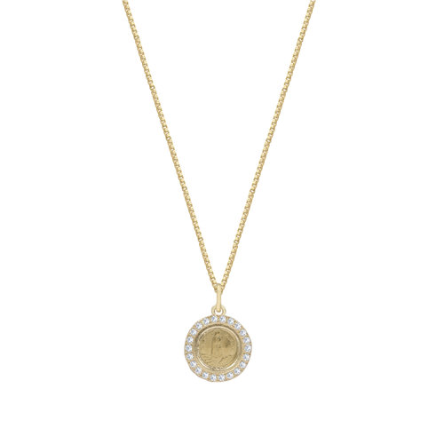 ef0a62dd2cd752 THE FATIMA COIN PENDANT NECKLACE (PAVE') — The M Jewelers