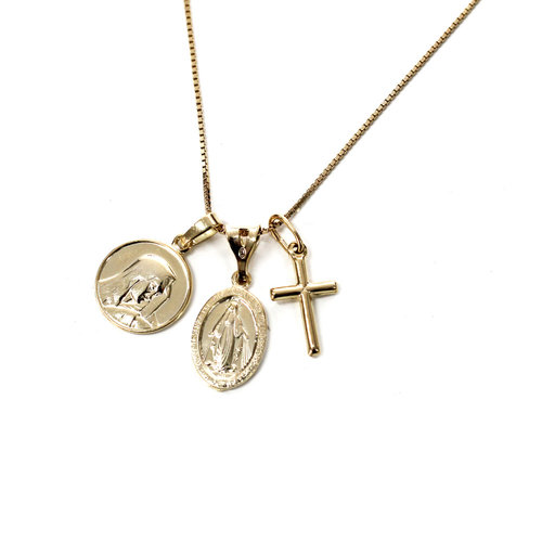 gold solid includes not pendant necklace girls chain teen classic plated girl cross s
