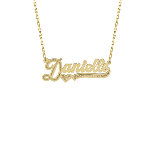 c535a8cc7 THE CUT TONE NAMEPLATE NECKLACE — The M Jewelers
