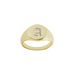 2532c14283e5a7 Old English A Signet Ring.jpg. THE ...