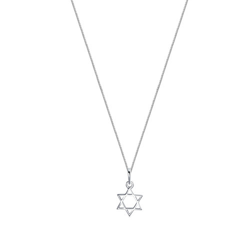 The silver star of david pendant necklace the m jewelers the silver star of david pendant necklace aloadofball Images