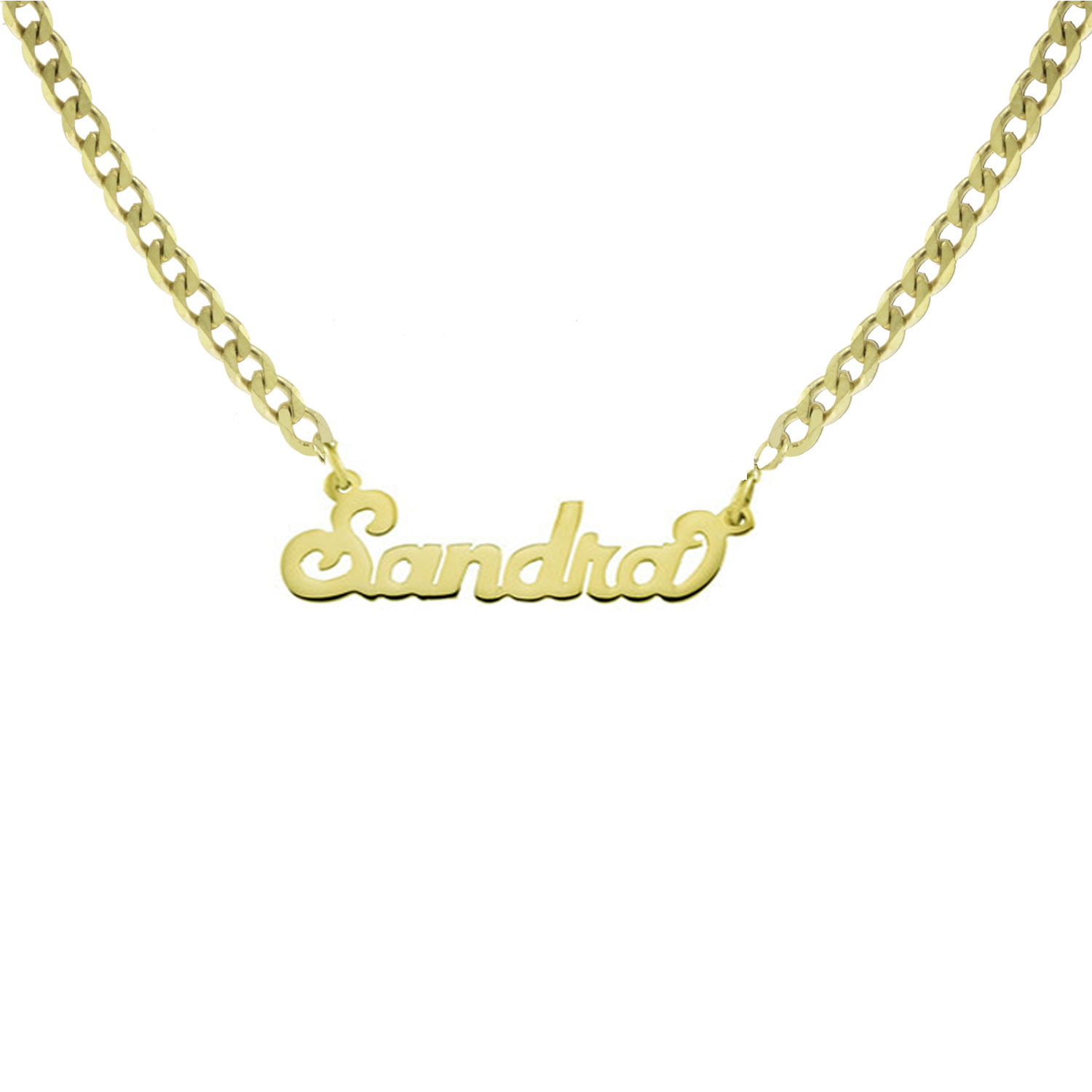 3ae1b60adaccd THE NAMEPLATE NECKLACE (CURB CHAIN) — The M Jewelers