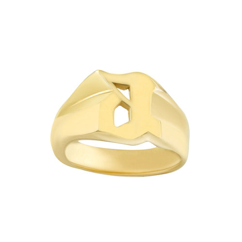 aeab8318204b64 THE OLD ENGLISH SINGLE INITIAL RING — The M Jewelers