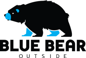Blue Bear Outside
