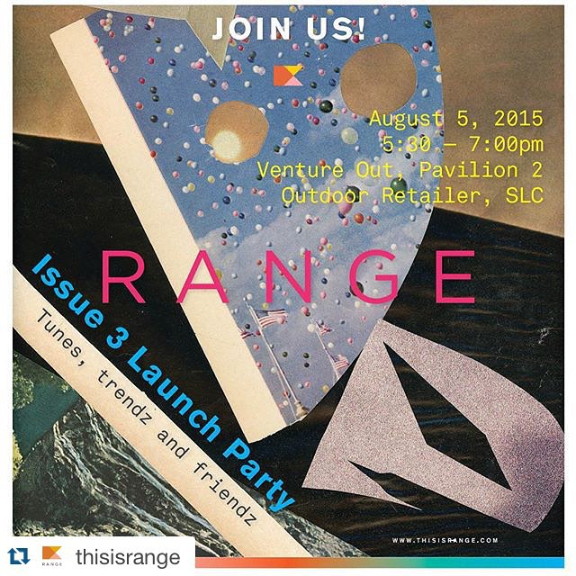 "This will most likely make #outdoorretailer this year!  #Repost @thisisrange with @repostapp. ・・・ Join us next week for the #RANGEmag Issue Three Launch Party, ""Tunes, trendz and friendz,"" at #ORshow! -- We'll be in the @ventureoutor section on Day One from 5:30 to 7:00p.m. with free print copies of the mag and signature RANGE flag pins. See you all there!! 😎🎶🍻🚩"