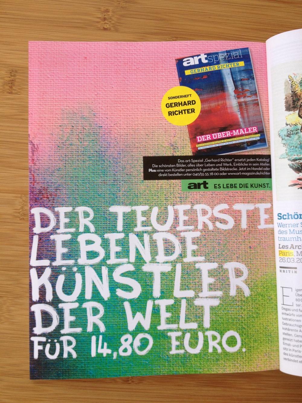 """die kleinen freuden zwischendurch: headlines für das art sonderheft """"gerhard richter""""."""