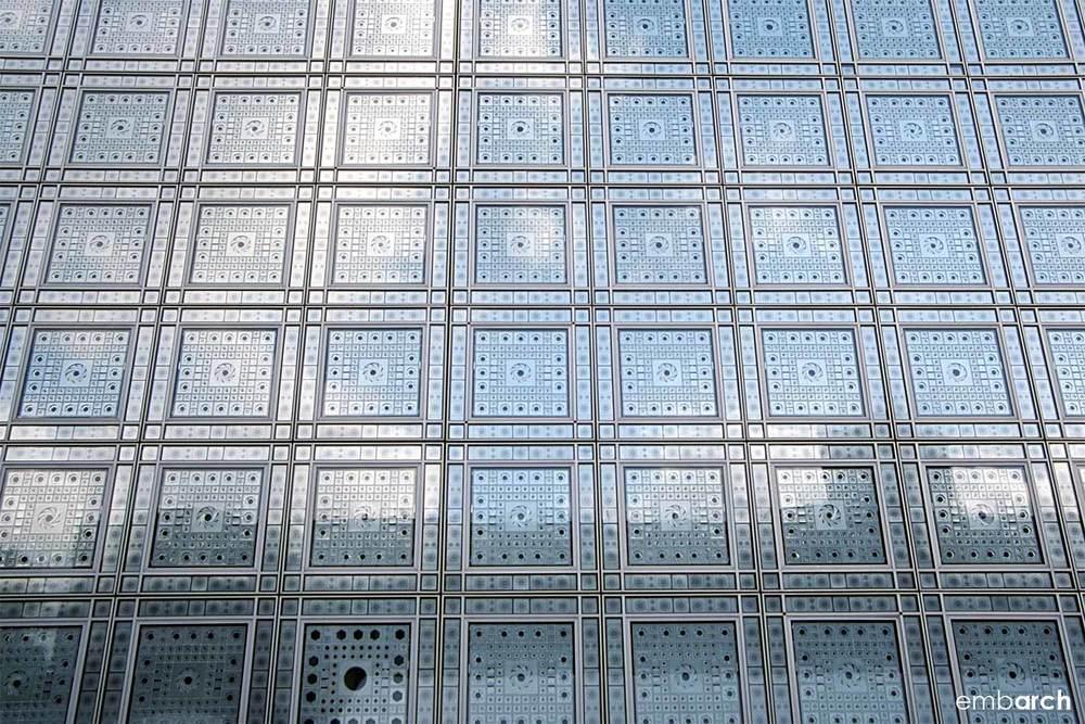 Arab World Institute - facade detail
